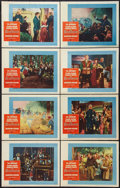 "Movie Posters:Adventure, The Buccaneer (Paramount, 1958). Lobby Card Set of 8 (11"" X 14"").Adventure.. ... (Total: 8 Items)"