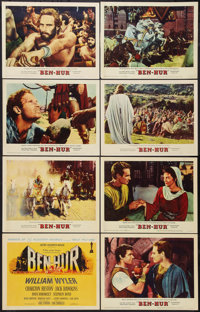 """Ben-Hur (MGM, 1960). Lobby Card Set of 8 (11"""" X 14"""") Academy Awards Style. Historical Drama. ... (Total: 8 Ite..."""