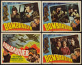 "Movie Posters:War, Bombardier (RKO, 1943). Title Lobby Card and Lobby Cards (3) (11"" X14""). War.. ... (Total: 4 Items)"