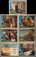 """Movie Posters:War, Corvette K-225 (Universal, 1943). Title Lobby Card and Lobby Cards(6) (11"""" X 14""""). War.. ... (Total: 7 Items)"""