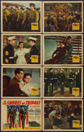 """Movie Posters:War, To the Shores of Tripoli (20th Century Fox, 1942). Lobby Card Setof 8 (11"""" X 14""""). War.. ... (Total: 8 Items)"""