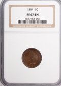 Proof Indian Cents, 1884 1C PR67 Brown NGC....