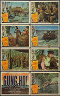 "Movie Posters:War, Gung Ho! (Universal, 1943). Lobby Card Set of 8 (11"" X 14""). War..... (Total: 8 Items)"
