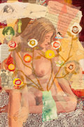 Pin-up and Glamour Art, GEORGE GUZZI (American, 20th Century). Before I Grew Up to LoveYou, Late 1960s. Mixed media collage on canvas. 30 x 20 ...