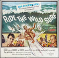 "Movie Posters:Sports, Ride the Wild Surf (Columbia, 1964). Six Sheet (81"" X 81""). Sports.. ..."