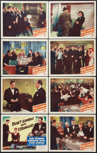 "Don't Gamble with Strangers (Monogram, 1946). Lobby Card Set of 8 (11"" X 14""). Drama. ... (Total: 8 Items)"