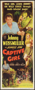 "Movie Posters:Adventure, Captive Girl (Columbia, 1950). Insert (14"" X 36""). Adventure.. ..."