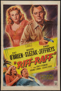 "Movie Posters:Adventure, Riff-Raff (RKO, 1947). One Sheet (27"" X 41""). Adventure.. ..."