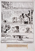 Original Comic Art:Panel Pages, Pat Boyette The Phantom #49 page 1 Original Art (Charlton, 1972)....