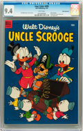 Golden Age (1938-1955):Cartoon Character, Four Color #495 Uncle Scrooge - White Mountain pedigree (Dell, 1953) CGC NM 9.4 White pages....