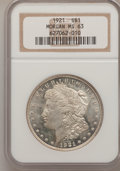 Morgan Dollars: , 1921 $1 MS63 NGC. NGC Census: (19228/32175). PCGS Population (19078/21310). Mintage: 44,690,000. Numismedia Wsl. Price for ...
