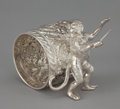 Silver Holloware, American:Napkin Rings, AN AMERICAN SILVER PLATED FIGURAL NAPKIN RING . Maker unknown,American, circa 1880. Marks: 063. 2-1/2 inches high (6.4 ...