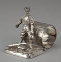 Silver & Vertu:Hollowware, AN AMERICAN SILVER PLATED FIGURAL NAPKIN RING . Pairpoint Mfg. Co., New Bedford, Massachusetts, circa 1875. Marks: PAIRPOI...