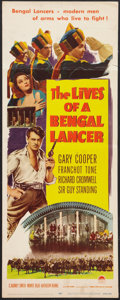 "Movie Posters:Adventure, The Lives of a Bengal Lancer (Paramount, R-1950). Insert (14"" X36""). Adventure.. ..."