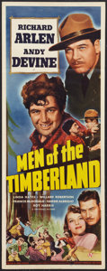 "Movie Posters:Adventure, Men of the Timberland (Universal, 1941). Insert (14"" X 36"").Adventure.. ..."