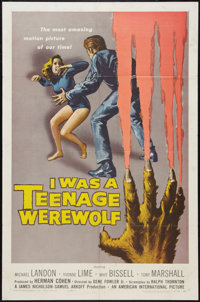 "I Was a Teenage Werewolf (American International, 1957). One Sheet (27"" X 41""). Horror"