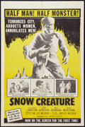 "Movie Posters:Science Fiction, Snow Creature (United Artists, 1954). One Sheet (27"" X 41"").Science Fiction.. ..."