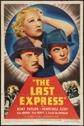 "Movie Posters:Crime, The Last Express (Universal, 1938). One Sheet (27"" X 41""). Crime....."