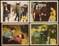 """Movie Posters:Western, The Outlaw (United Artists, 1946). Lobby Cards (4) (11"""" X 14""""). Western.. ... (Total: 4 Items)"""