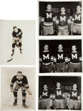 Hockey Collectibles:Photos, 1934-35 Montreal Maroons Original Photographs Lot of 5 - StanleyCup Championship Season!...