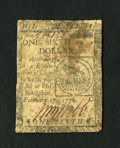Colonial Notes:Continental Congress Issues, Continental Currency February 17, 1776 $1/6....
