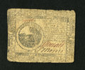 Colonial Notes:Continental Congress Issues, Continental Currency May 9, 1776 $6 Very Good-Fine....