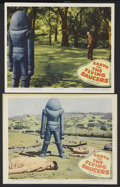 "Movie Posters:Science Fiction, Earth vs. the Flying Saucers (Columbia, 1956). Lobby Cards (2) (11""X 14"" and 11"" X 13.25). Science Fiction. Starring Hugh M..."