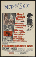 "Movie Posters:James Bond, From Russia With Love (United Artists, 1964). Window Card (14"" X22""). Ian Fleming's James Bond set the standard for ""Cool"" ..."