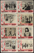 "Movie Posters:Rock and Roll, Go Go Mania (AIP, 1965). Lobby Card Set of 8 (11"" X 14""). RockMusical. Starring The Beatles, Herman's Hermits, Spencer Davi...(Total: 8 Items)"