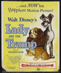 "Movie Posters:Animated, Lady and the Tramp (Buena Vista, 1955). Window Card (14"" X 16.75"").Animated Musical Romance. Starring the voices of Peggy L..."
