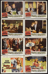 """Over-Exposed (Columbia, 1956). Lobby Card Set of 8 (11"""" X 14""""). Drama. Directed by Lewis Seiler. Starring Cleo..."""