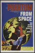 "Movie Posters:Science Fiction, Phantom From Space (United Artists, 1953). One Sheet (27"" X 41"").Science Fiction. Starring Ted Cooper, Harry Landers, Tom D..."