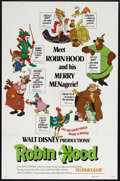 "Movie Posters:Animated, Robin Hood (Buena Vista, 1973). One Sheet (27"" X 41"") Style A.Animation. Starring (voices) Andy Devine, Peter Ustinov, Terr..."