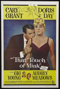 """That Touch of Mink (Universal, 1962). One Sheet (27"""" X 41""""). Romantic Comedy. Starring Cary Grant, Doris Day..."""