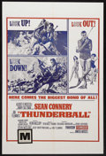 "Movie Posters:James Bond, Thunderball (United Artists, 1965). One Sheet (27"" X 41""). Action.Starring Sean Connery, Claudine Auger, Adolfo Celi and Lu..."