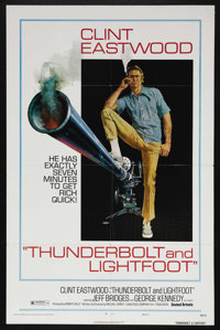 "Thunderbolt and Lightfoot (United Artists, 1974). One Sheet (27"" X 41"") Style C. Crime. Starring Clint Eastwoo..."