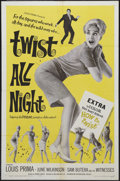 "Movie Posters:Rock and Roll, Twist All Night (American International, 1962). One Sheet (27"" X41""). Rock Musical. Starring Louis Prima, June Wilkinson, S..."