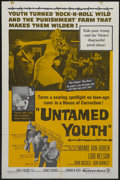 "Movie Posters:Cult Classic, Untamed Youth (Warner Brothers, 1957). One Sheet (27"" X 41"").Crime. Starring Mamie Van Doren, Lori Nelson, John Russell, Ed..."