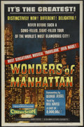 """Movie Posters:Short Subject, Wonders of Manhattan (Columbia, 1956). One Sheet (27"""" X 41"""").Travel Featurette. Canadian censor stamp and soft folds. This ..."""