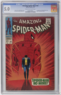 The Amazing Spider-Man #50 (Marvel, 1967) CGC VG/FN 5.0 Cream to off-white pages