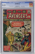 Silver Age (1956-1969):Superhero, The Avengers #1 (Marvel, 1963) CGC VG 4.0 Cream to off-white pages. ...