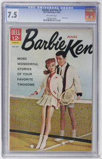 Barbie and Ken #4 (Dell, 1963) CGC VF- 7.5 Off-white pages