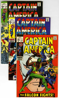 Captain America #118-128 Group (Marvel, 1969-70) Condition: Average NM-.... (Total: 11)