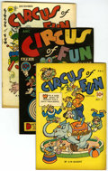 "Golden Age (1938-1955):Funny Animal, Circus of Fun #1, 2, and 3 Group - Davis Crippen (""D"" Copy)pedigree (A.W. Nugent, 1945-47).... (Total: 3)"