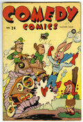 "Golden Age (1938-1955):Funny Animal, Comedy Comics #24 Davis Crippen (""D"" Copy) pedigree (Timely, 1944)Condition: FN+...."
