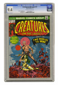 Bronze Age (1970-1979):Horror, Creatures on the Loose #21 (Marvel, 1973) CGC NM 9.4 Off-white towhite pages. Gullivar Jones, Warrior of Mars is featured. ...