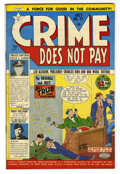 "Golden Age (1938-1955):Crime, Crime Does Not Pay #77 Davis Crippen (""D"" Copy) pedigree (Lev Gleason, 1949) Condition: VF/NM...."