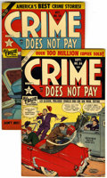 """Golden Age (1938-1955):Crime, Crime Does Not Pay #114 and 115 Group - Davis Crippen (""""D"""" Copy) pedigree (Lev Gleason, 1952).... (Total: 2)"""