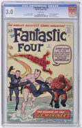 Silver Age (1956-1969):Superhero, Fantastic Four #4 (Marvel, 1962) CGC GD/VG 3.0 White pages....