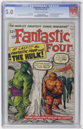 Silver Age (1956-1969):Superhero, Fantastic Four #12 (Marvel, 1963) CGC VG/FN 5.0 Off-white to white pages....
